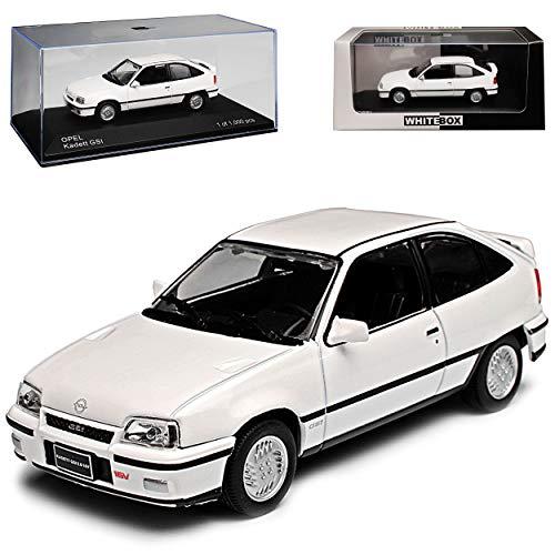 Whitebox Opel Kadett E GSI 3 Türer Weiss 1984-1993 limitiert 1 von 1000 Stück 1/43 Modell Auto mit individiuellem Wunschkennzeichen