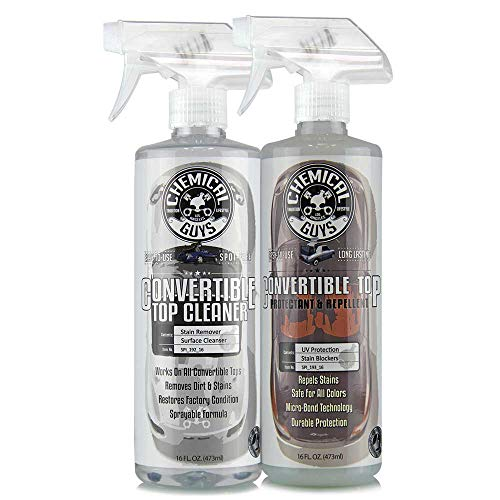 Chemical Guys HOL_996 Convertible Top Cleaner and Convertible Top Protectant Kit, 16 oz, 2 Items