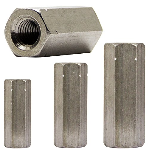 OPIOL QUALITY | Gewindemuffen M8 X 40 Sechskant, Edelstahl A2 (4 Stück) | Sechskant-Muffen | Langmuttern | Abstandshalter
