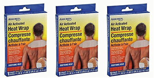 Air Activated Heat Wraps, Neck, Wrist, Shoulder Pain Therapy, 3-ct Set