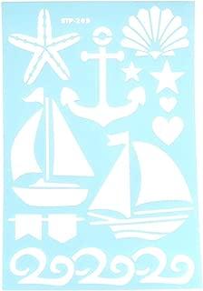 Homeford Nautical Ocean Multi-Media Stencil, 11-Inch