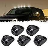 Black Smoked Lens White LED Cab Roof Top Marker Lamp Clearance Running Light Assembly Car Top Roof Lighting Lens with White LED