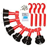 100Pcs Tile Leveler Spacers, Reusable Tiles Leveling System with 500Pcs 2mm Tile Spacer 4 Special Wrenches, Flooring Tile levelersInstallation Tool Kit for Building Walls Floors DIY Construction