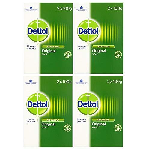Dettol Bar Soap Original 2 x 100g (Pack of 4)