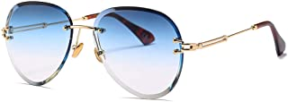 Large Frame Round Sunglasses Fashion Wild Metal Frame Glasses 100% UV Protection,C4