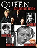 Queen Dots Lines Spirals Waves Coloring Book: An Incredible Dots Lines Spirals Waves Coloring Book With Many Unique Illustrations Of Queen For Adults Relaxing And Relieving Stress