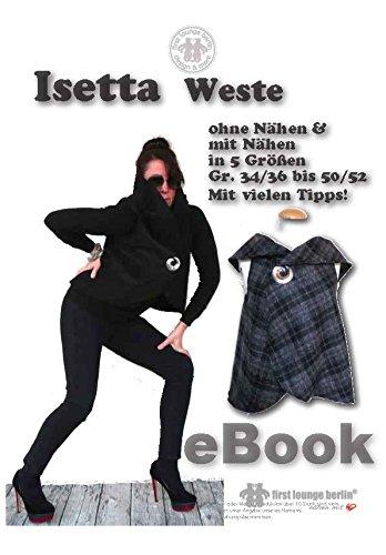 Isetta Nähanleitung mit Schnittmuster auf CD für Weste, Cape, Poncho, Umhang bzw. Jäckli in 5 Größen Gr. 34/36 bis 50/52