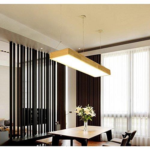 BAIJJ hanglamp van hout in drie kleuren van massief hout kantoor creatieve verlichting balken zoeken hoekig eenvoudige led-plafonds [energieklasse A ] (afmetingen: