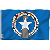 Anley Fly Breeze 3x5 Feet Northern Mariana Islands Flag - Vivid Color and Fade Proof - Canvas Header and Double Stitched - Northern Mariana Islander Flags Polyester with Brass Grommets 3 X 5 Ft