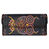 Bohemian Colorful Owl Printed Leatherette Wallet Clutch Coin Purse
