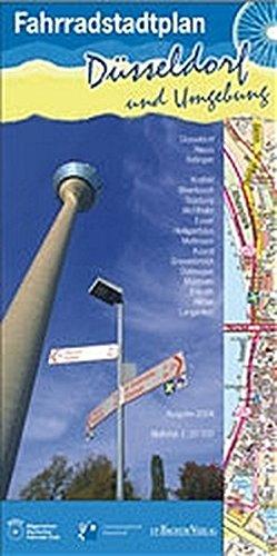 Fahrradstadtplan Düsseldorf und Umgebung: 1:20000, Innenkarte 1:10000