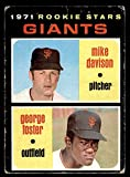 1971 Topps # 276 Giants Rookies George Foster/Mike Davison San Francisco Giants (Baseball Card) GOOD Giants. rookie card picture