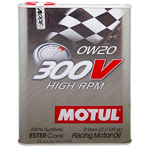 MOTUL (モチュール) 300V HIGH RPM (ハイアールピーエム) 0W20 100%化学合成 (エステルコア) エンジンオイル 2L (並行輸入品) 103122