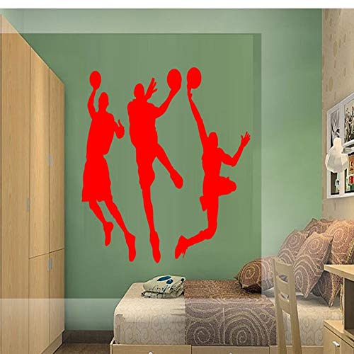 ASFGA Sport Wandaufkleber Basketball Spieler Aufkleber NBA Tapeten Heimtextilien Basketball Wandtattoos Kinderzimmer Kinderzimmer 24 56x71cm