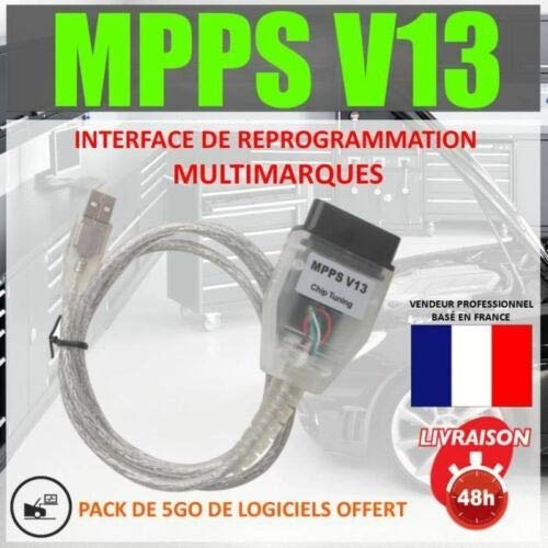 MISTER DIAGNOSTIC EXCLUSIVITE Câble/Interface MPPS V13.02 + Logiciel MPPS V16 Flash Tuning