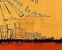 数字で描くDIY油絵図都市の太陽を描くキャンバス結婚式の装飾アート画像ギフト数字で描く カスタマイズ可能 50x65cmフレームなし