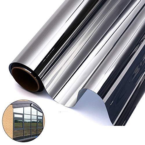 LayOPO Reflektierende Fensterfolie, Einwegspiegelfolie Anti-UV-Wärmesteuerung Fenstertönung Datenschutz Glasaufkleber Sun Blocker Für Heim Und Büro