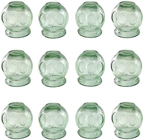 Schröpfen aus Glas (Feuerschröpfen) Vakuum Massage Neu ø 45 mm 12 st