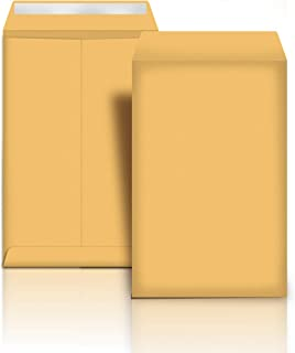 AmazonBasics Catalog Mailing Envelopes, Peel & Seal, 9x12 Inch, Brown Kraft, 100-Pack - AMZP13