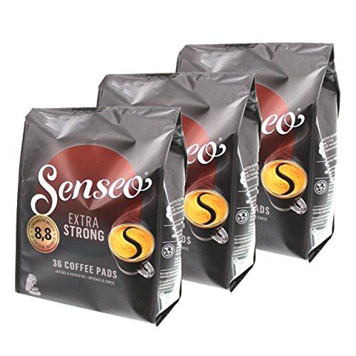 Senseo Kaffeepads Extra Strong / Extra Kräftig, Intensiver und Vollmundiger Geschmack, Kaffee für Kaffepadmaschinen, 108 Pads