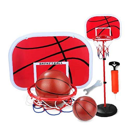 shentaotao Niños Set Baloncesto 1,5 m de Altura Ajustable del aro de Baloncesto y Soportes de Juego Interiores y al Aire Libre de la Bola Juego de Niños Set