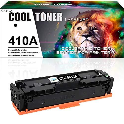 Cool Toner Compatible Toner Cartridge Replacement for HP 410A CF410A 410X CF410X Toner for HP Color Laserjet Pro MFP M477fnw M477fdw M477fdn M452dn M452nw M452dw M477 Printer Toner (Black, 1-Pack)