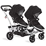 Dream On Me Track Tandem Stroller- Face to Face Edition, Black