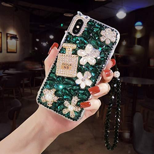 KIWG telefoonhoesje mobiele telefoonhoesje strass decoratie stijl met hand riem anti-val en vuilafstotend beschermend schelp voor Iphone11