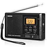Portable Radio Alarm Clock, Pocket AM FM SW Compact Small Radio Digital Tuning Stereo Personal Battery Radio...