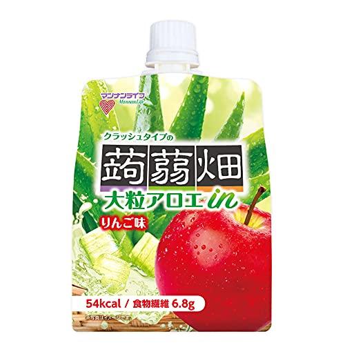 マンナンライフ 大粒アロエinクラッシュタイプの蒟蒻畑 りんご味 【1ケース】 150g×30個