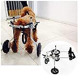 1-60kg Hunderollstuhl Wheels Dog Für Hinterbein Körperbehinderter Tierkarren Haustier Roller Hund Rollstuhl Rollwagen Für Behindertentier Rehabilitation 2 Räder Einstellbar(8 Größen)...