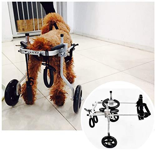 1-60kg Silla De Ruedas for Pierna Trasera Carro De Animales Con Discapacidad Física Scooter for Mascotas Ruedas for Pierna Trasera Perros Rehabilitación 2 Ruedas Ajustable (8 Tamaños) ( Size :