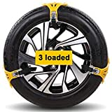 JJJJD Cadenas 3PCS / 5PCS / Set de vagones de Nieve se abrieron Cadena de neumáticos de Nieve for Las disoluciones de los neumáticos de Invierno Auto Coche Ruedas Antideslizante Autocross Aire Libre