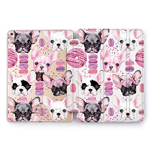 Wonder Wild Case Compatible with Apple iPad Donuts Doggy 5th 6th Generation Tablet Mini 1 2 3 4 Air 2 Pro 10.5 12.9 11 10.2 9.7 inch Cover Cute Animals French Bulldog Girly Adorable Pattern Sweet