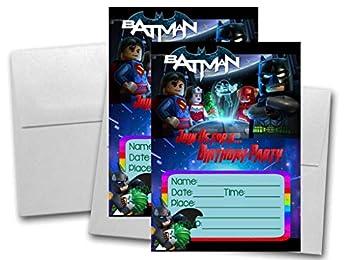 Crafting Mania LLC 12 Batman Movie Birthday Invitation Cards  12 White Envelops Included  #1