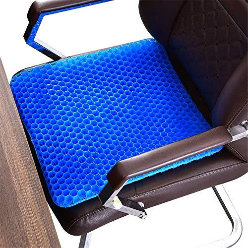YLiansong-home Seat Cushion Chair Cushion Non-slip Gel Cushion Ergonomic Breathable Cushion Comfortable Honeycomb Design Chair Cushion Washable Lid (Color : Blue, Size : 47X44X3.5CM)