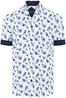 Tarocash Men's Swift Floral Print Shirt Long Sleeve Fit Sizes XS-5XL for Going Out Smart Casual