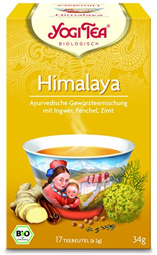 Yogi Tea 3x Himalaya Chai Bio Yogi Tee I traditionelle ayurvedische Tee-Mischung I Bio-Qualität - 3x 17 Tee-Beutel I würziger Kräuter-Tee 3 Päckchen