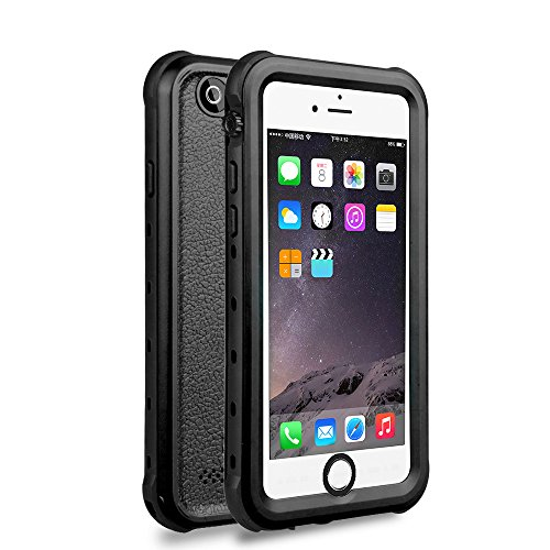 iPhone 6 / 6s Waterproof Case, Underwater Full Sealed Cover Snowproof Shockproof Dirtproof IP68 Certified Waterproof Case for iPhone 6/6s 4.7 inch (Black)