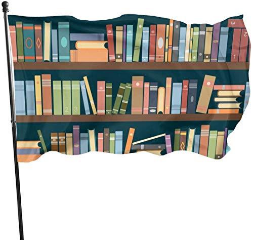 N/A USA Guard Vlag Banner Home Vlaggen Boekenplank Boekenworm Duurzame Verticale Garde voor Vakanties Outdoor Patio Wanddecoratie 3x5 Ft