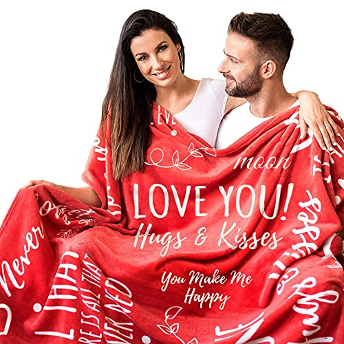Gifts for Her I Love You Blanket in Gift Packaging I Anniversary,...