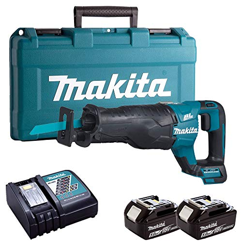 Makita DJR187Z 18V Reciprocating Saw with 2 x 5.0Ah Batteries, Charger & Case