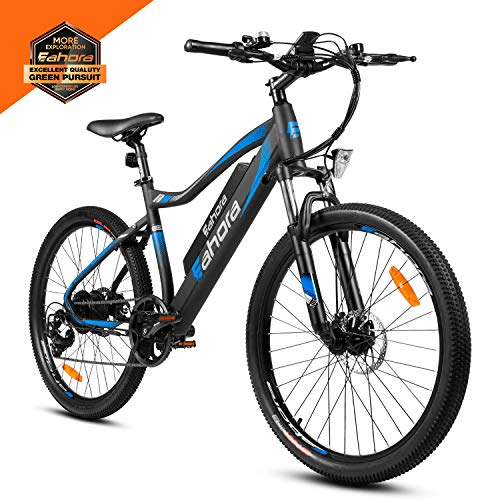 Eahora XC100 26 Inch Electric Mountain Bicycle 7 Speed E-Bike 48V 10.4Ah Lithium Battery 350W...