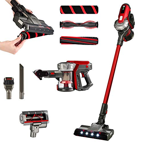 Mohawk STV-1 Cordless Stick Vacuum - Designed with The Leading Global Manufacturer of Floors & Carpets - Powerful Digital Motor - 3 Unique Brushroll Technologies - 3-Stage HEPA Cyclonic Filtration