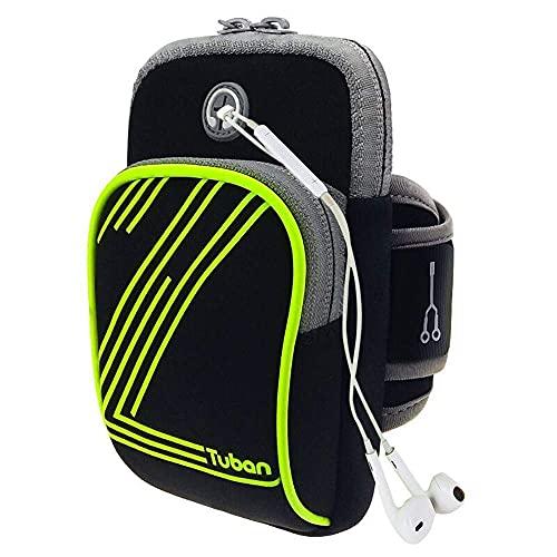 Funda universal para brazo de entrenamiento para gimnasio, soporte para brazalete para correr, brazalete deportivo para iPhone 7/6 / 6s / 5 / SE/iPod, Samsung Galaxy S5 / S4 / S3, LG, HTC, Huawei,