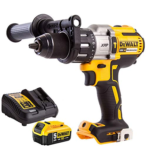 Dewalt DCD996N 8V Brushless Combi Drill with 1 x 5.0Ah DCB184 Battery + DCB115 Charger, 18 V