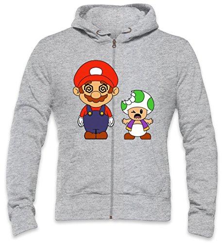Super Mario High Trippy Acid Trippy Trip Lsd High Mens Zipper Hoodie Large