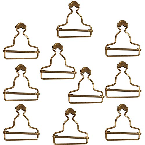 Trimming Shop Metall-Latzhosenschnallen, Clip-Verschlüsse für Hosenträger, Handtaschen, Jacken, Jumpsuits, Gürtel, Kinder-Overalls, DIY-Kleidung (45 mm, Bronze, 10 Stück)