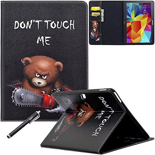 Galaxy Tab 4 10.1 Case - Newshine Stand Folio Case Cover for Samsung Galaxy Tab 4 10.1 Inch Tablet SM-T530NU, with Multiple Viewing Angles, Document Card Pocket (Brown Bear)
