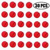 TIHOOD 30PCS 2'x2' Red Circus Clown Nose Halloween Christmas Costume Party